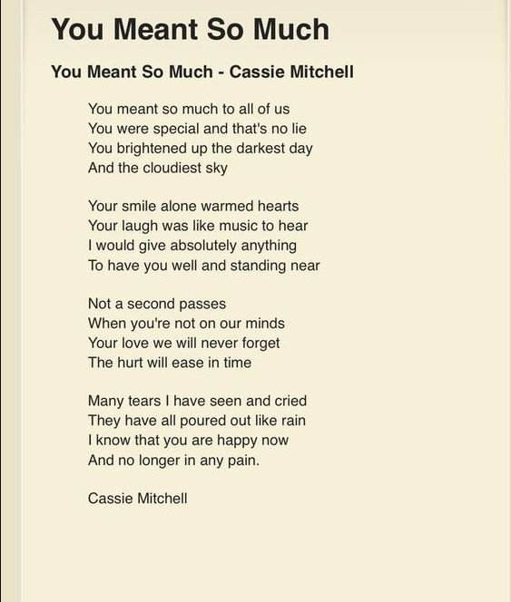 Cassie Mitchell - You Meant So Much