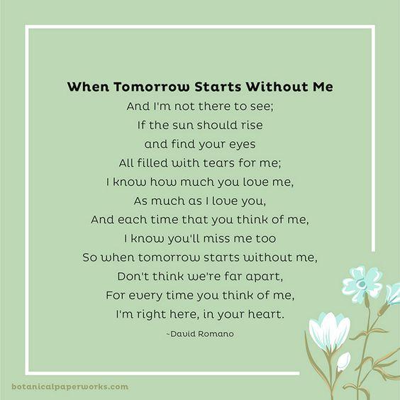 David Romano - When Tomorrow Starts Without Me