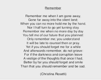 Christina Rosetti - Remember